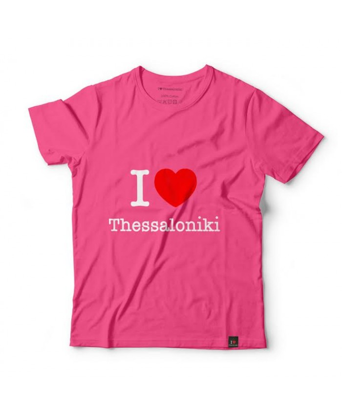T-shirt I Love Thessaloniki Pink
