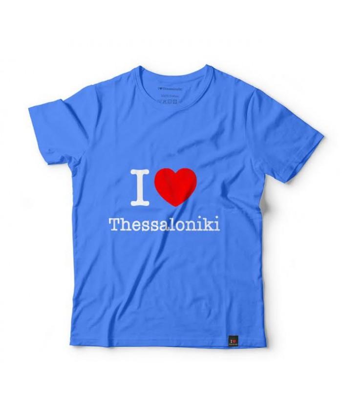 T-shirt I Love Thessaloniki Blue