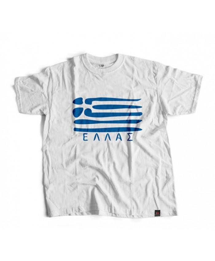T-shirt Ελλάς White