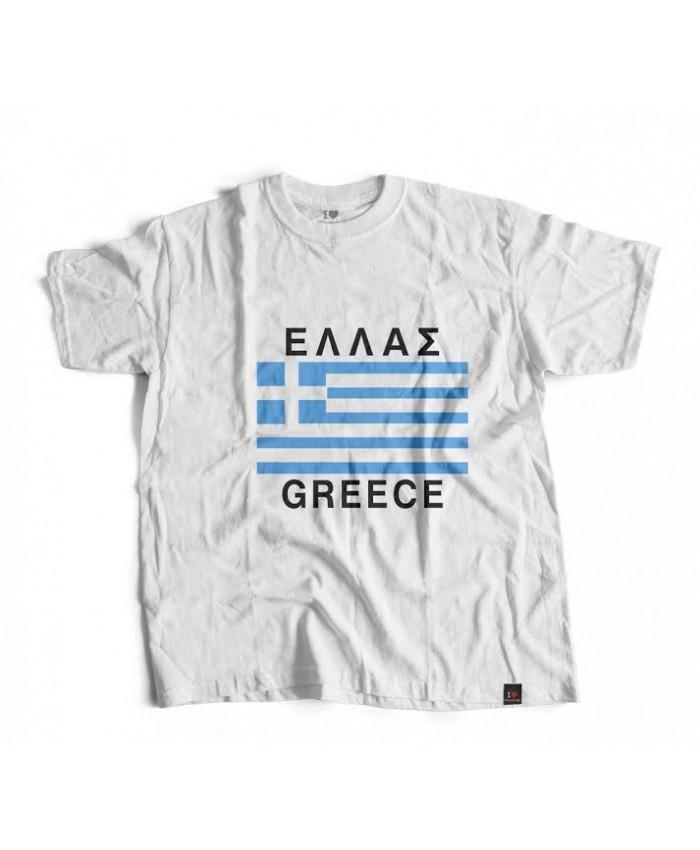 T-shirt Ελληνική Σημαία