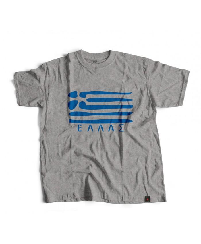 T-shirt Ελλάς Grey