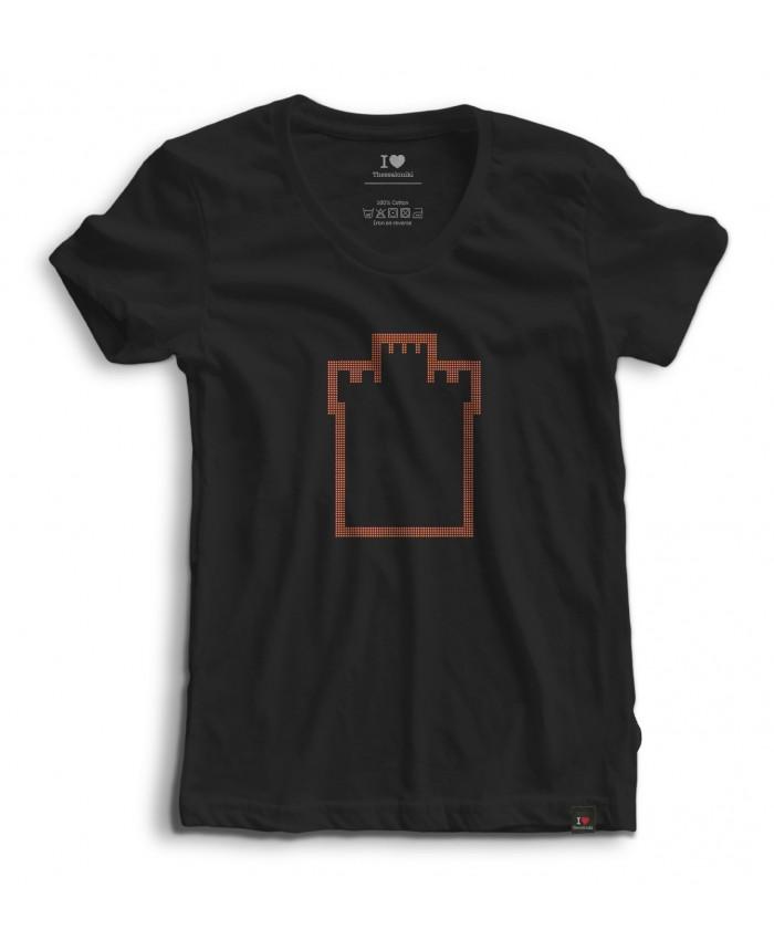 T-shirt Strass White Tower Black