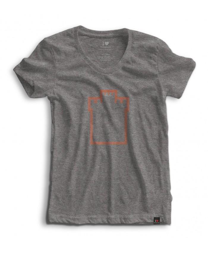 T-shirt Strass White Tower Grey